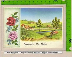 FR :  Souvenir Des Moeres Decor Avec Fleurs - Autres Communes