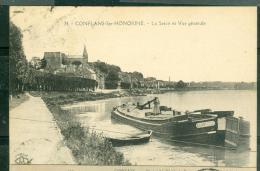 N°34  -   Conflans Sainte Honorine  - La Seine Et Vue Générale   -  Dav82 - Conflans Saint Honorine