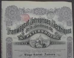 Tramways De St. Petersbourg 100 Francs 1912 - Automobile