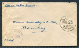 1944 India Burma Fieldpost FPO Censor Bombay Grindlays Bank Cover 5th Infantry Division - Birma (...-1947)