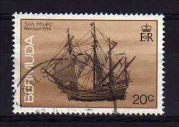 """Bermuda - 1990 - 20 Cents Wrecked Ships/""""San Pedro"""" (With Imprint Date) - Used - Bermudes"""