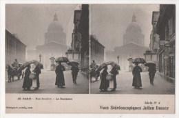 Vues Stéréoscopiques Julien Damoy - PARIS - Rue Soufflot - Le Panthéon - Stereoscopische Kaarten