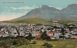 1900 CIRCA CAPETOWN AND DEVIL'S PEAK - Afrique Du Sud