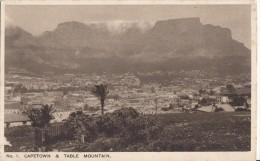 1900 CIRCA CAPETOWN AND TABLE MOUNTAIN - Afrique Du Sud
