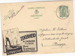 1938 Liechtesvelde BELGIUM Illus ADVERT TREE PLANTING POSTAL STATIONERY CARD Heraldic Lion Stamps Cover - Trees