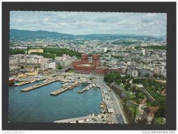 POSTCARD 1960years OSLO Aerial View NORWAY NORGE SCANDINAVIA - Norwegen