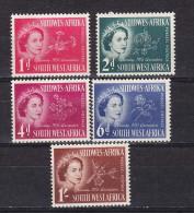 Sud Ouest Afrique - Zuid West Afrika  Cat;  Y&T  Nr 232-236    (xx) - Stamps