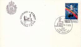 Fdc Ufficio Filatelico Di Stato 1986: ANNO DELLA PACE, Non Viaggiata - FDC