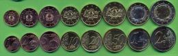 Euro Coins Set Latvia 2014 UNC / BU (1, 2, 5, 10, 20, 50 Cents, 1, 2 Euro) (Set 8 Pc) - Letonia