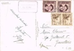 7580. Postal ENCAMP (Andorra) 1949. Franqueo Mixto España Andorra - Cartas