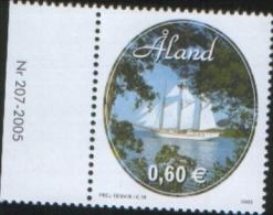 Aland 2005 Aland Summer Ship Schooner Linden 1v Complete Set ** MNH - Aland