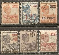Indes Neerlandaises Netherlands Indies Various Overprints Obl - Niederländisch-Indien