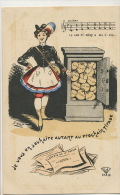 Loterie De La Presse Illustration Par Geel La Cantiniere A Des Ecus Or Coffre Fort - Cartes Postales