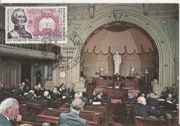 FRANCE 1971 – CARTE MAXIMUM – 150 ACADEMIE NATIONALE DE MEDECINE – BARON A. PORTAL  - SEANCE DU 8 JUIN 1971 1 TIMBRE 0,4 - 1970-79