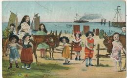 Multi Bébé Surrealisme Avec Anes Donkey - Groupes D'enfants & Familles