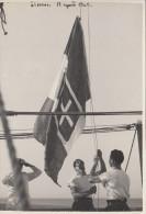 FOTOGRAFIA-PHOTOGRAPHIE NAVE DA GUERRA MARINA MILITARE 1940 LIVORNO LEGGI RETRO FORMATO 12 X 18,00   - - Guerra, Militari