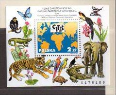 POLOGNE B.F. 153 ** CITES - Faune - Blocks & Sheetlets & Panes