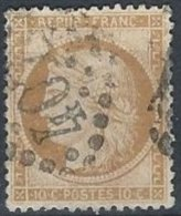 FRANCE - 10 C Bistre-jaune Oblitéré TTB - 1870 Siege Of Paris