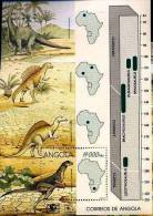 ANGOLA Animaux Prehistoriques, Prehistoire YVERT BF 17**  MNH Neuf Sans Charniere - Briefmarken