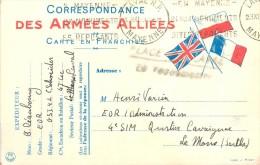 TO-14  : 0077 : Carte Postale   (Franchise-Militaire ) Correspondance Des Armées Alliées - Marcophilie (Lettres)