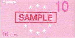 """Test Note """"BILLCON"""" Testnote, 10 EURO, Eins. Druck, Sample, RRR, UNC - EURO"""