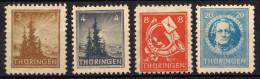 SBZ Thüringen 1945, 92-93; 96; 98 A Y ** [090314IX(2)] @ - Zone Soviétique
