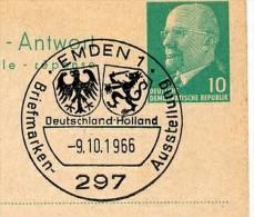 WAPPEN HOLLAND DEUTSCHLAND Emden 1966 Auf DDR P77 Antwort-Postkarte ZUDRUCK BÖTTNER #6 - Sobres