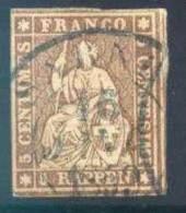 Switzerland 26, Used,  Thin   SCV$20   (025-3   Zum 22G,    Mi 13llBym - Used Stamps