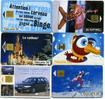 Lot 6 Télécartes Utilisées France (lot 1) - Télécartes