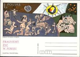 1978 - POLONIA POLSKA POLAND - KARTKA POCZTOWA - PABLO PICASSO - NUOVA - Stamped Stationery
