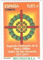 ESPAÑA, SPAIN, AÑO 2012, EDIFIL 4707, ORDEN DE SAN FERNANDO, CATALOGO 1,70 EUROS - 2011-... Ongebruikt