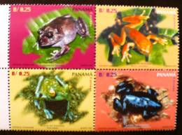 PANAMA: Grenouilles, Crapaud. 4 VALEURS EMISES EN 1997. Neuf Sans Charniere (MNH) - Grenouilles