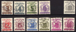 SBZ West-Sachsen 1946 138-141; 143-149, Gestempelt [090314IX(2)] @ - Zone Soviétique