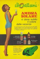 # AMBRA SOLARE  OLIO SPRAY MILK 1950s Advert Pubblicità Publicitè Reklame Suntan Oil Bronzage Creme Solaire Protector - Perfume & Beauty