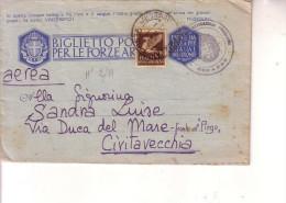 Biglietto Postale F M  -- Posta Militare Nr 550 --21 5 1943 --(Rodi)- Comando 35° Raggr.Art. Da Posizione - 1900-44 Vittorio Emanuele III