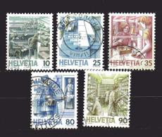 Svizzera ° 1986 - Trasporti Postali. Manca Il 5 C. N° 1250.  Unif. 1251/55 - Schweiz