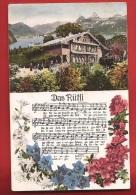 CDS4-20  Das Rütli, Fantaisie, Hymen National. Gelaufen In 1910 - UR Uri