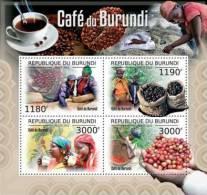 bur12508a Burundi 2012 Coffee of Burundi s/s Yvert&Tellier: 1648-1651