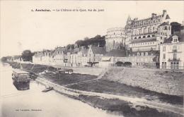 France Amboise Le Chateau et le Quai vus du pont