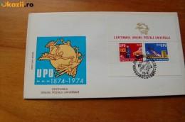Romania, 1974, UPU Centenary  ,error -  Sheet Without Number, Cover FDC - U.P.U.