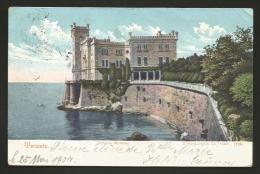 Trieste - Città - Castello Miramare - Formato Piccolo - Viaggiata 1904 - Trieste