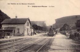 Joigny-sur-Meuse..animée..la Gare..train..locomotive à Vapeur - Autres Communes