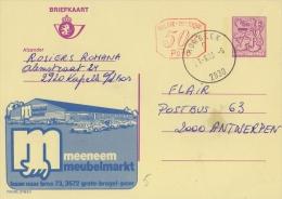Publibel 2782 M #P 010#°: (MEENEEM MEUBELMARKT) :  AUTOS,CARS,PARKING,GROTE BROGEL,PEER, - Stamped Stationery