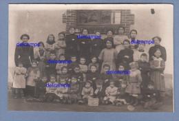 CPA Photo - SAINT FIRMIN Sur LOIRE - L'école - Garçons Et Filles En 1914 - TOP RARE - Non Classés