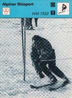 SKI ALPIN-ALPINE SKIING-SCI ALPINO, Sammelkarte /Trading Card, 16x12cm, 1977-79, Ed. Rencontre, Lausanne - Sport Invernali