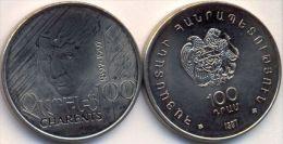 Armenia 100 Dram 1997 UNC * Yeghishe Charents - Iconic Armenian Poet * - Armenia