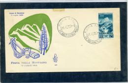 FDC VENETIA 1953 FESTA DELLA MONTAGNA - 6. 1946-.. Repubblica