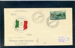 FDC VENETIA 1954 TOURING CLUB - 6. 1946-.. Repubblica