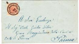 Lombardo Veneto - Lettera Casalmaggiore Con Al Verso Bollo Parma Su Tre Righe - Lombardo-Veneto
