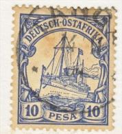 Germany East Africa 14  (o)   No Wmk.  TANGA  Type  I  Cd. - Colony: German East Africa